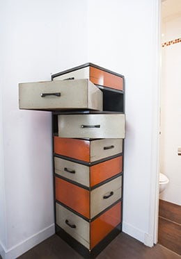Orange Storage Drawer Cube