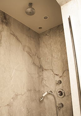Marble Shower Luxury Paris Apartment