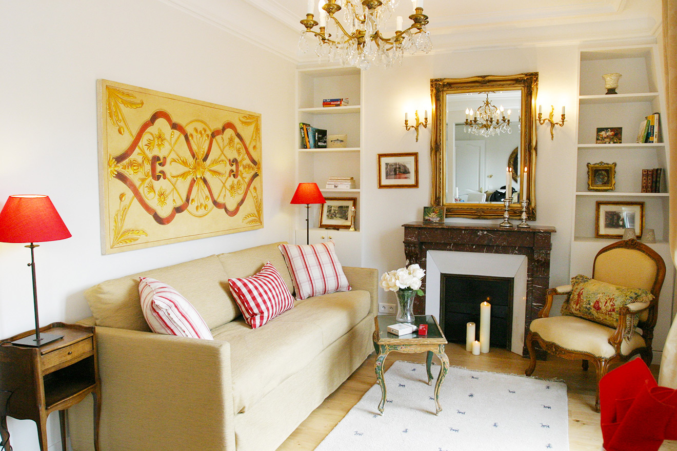 Cozy living room at Quincy Paris Apartment Rental
