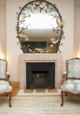 Ornate Mirror Above Fireplace