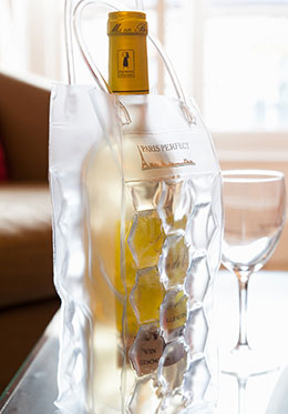 Bottle of French white wine in the Vougeot vacation rental offered by Paris Perfect
