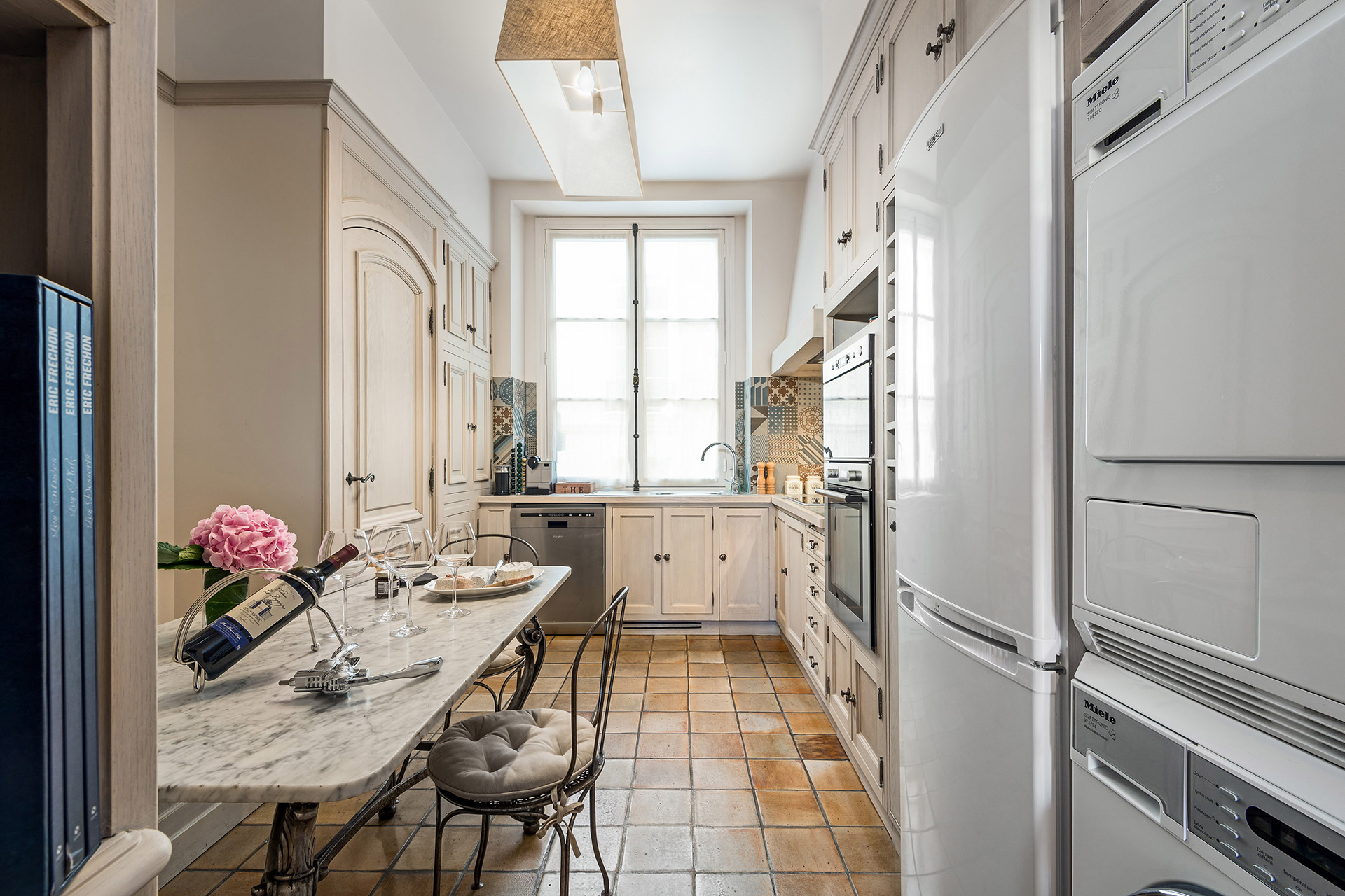 Fully equipped for your culinary needs in the kitchen of the Chopine vacation rental offered by Paris Perfect