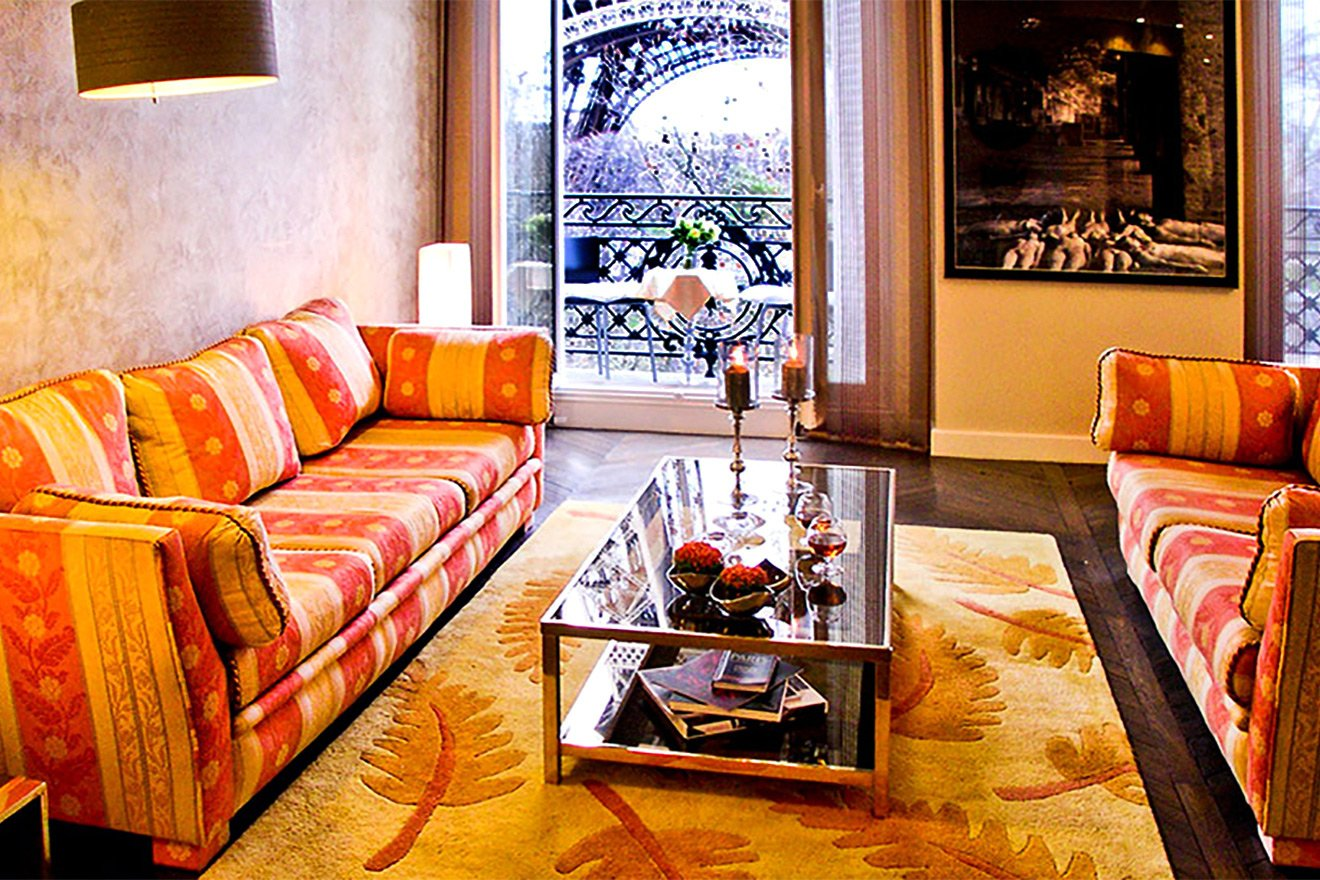 Step out onto your private balcony to enjoy the Eiffel views