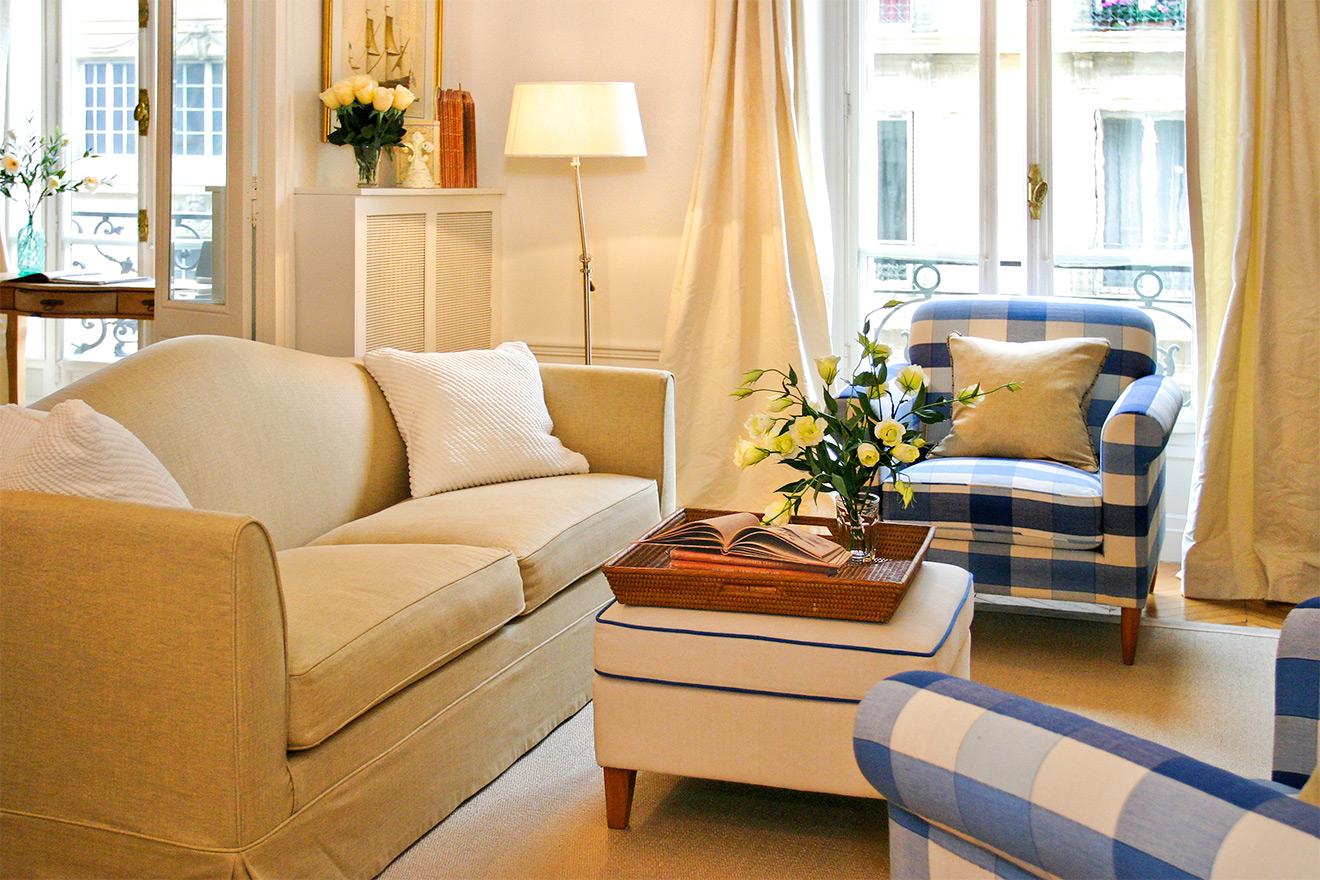 Paris Apartment Rental Living Room