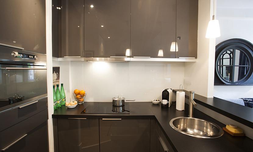 Remodeled Paris Apartment Kitchen