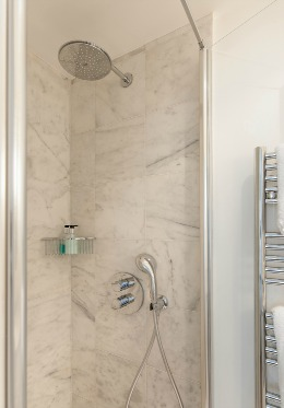 Enjoy the walk-in shower in the Montagny vacation rental offered by Paris Perfect
