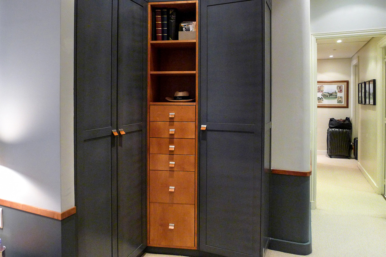 Beautiful built-in closest in the third bedroom