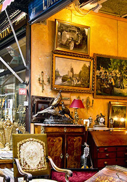 Find antique treasures at the nearby Village Suisse