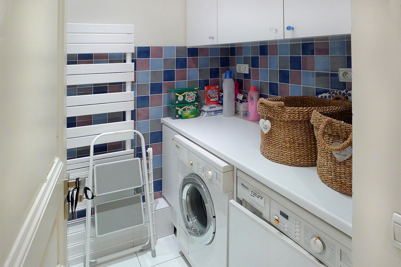 Laundry room with washer and separate dryer