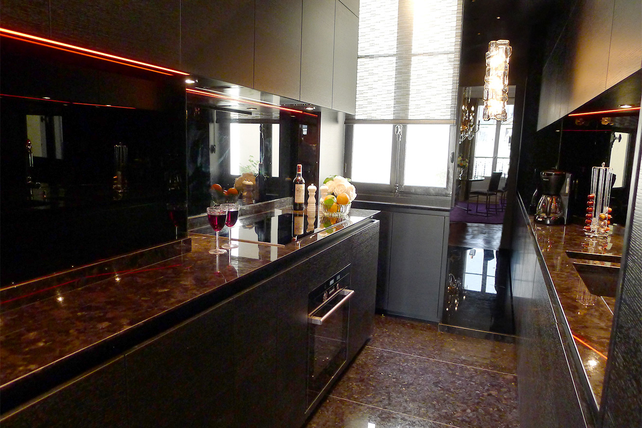 Luxury Apartment Kitchen Paris