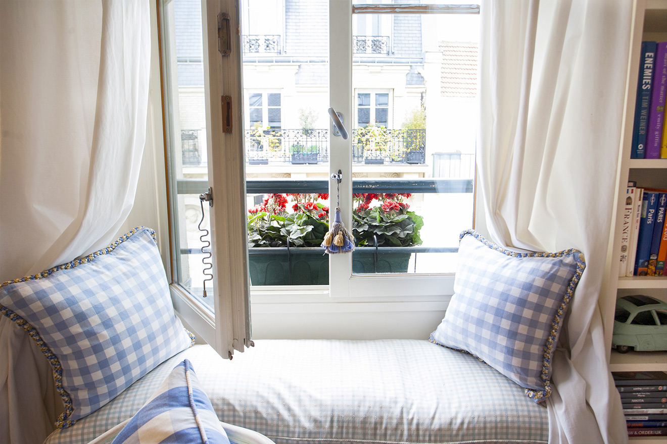 Window Seats in French Country Style Apartment