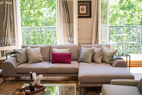 Sofa in Charmes Apartment in Paris