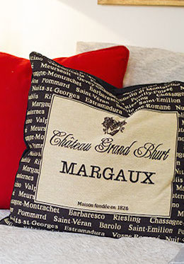 French Wine Cushion