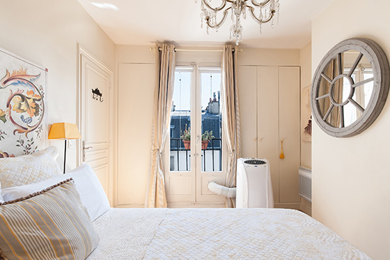 View towards the Parisian bedroom balcony