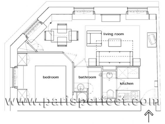 Pomerol Holiday Apartment Floorplan