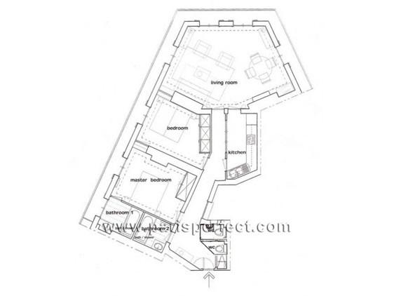 Spacious layout of our Sancerre apartment for rent in Paris