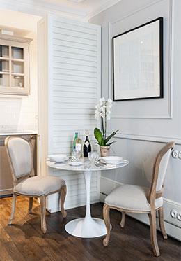 Dining Area in Paris One Bedroom Apartment