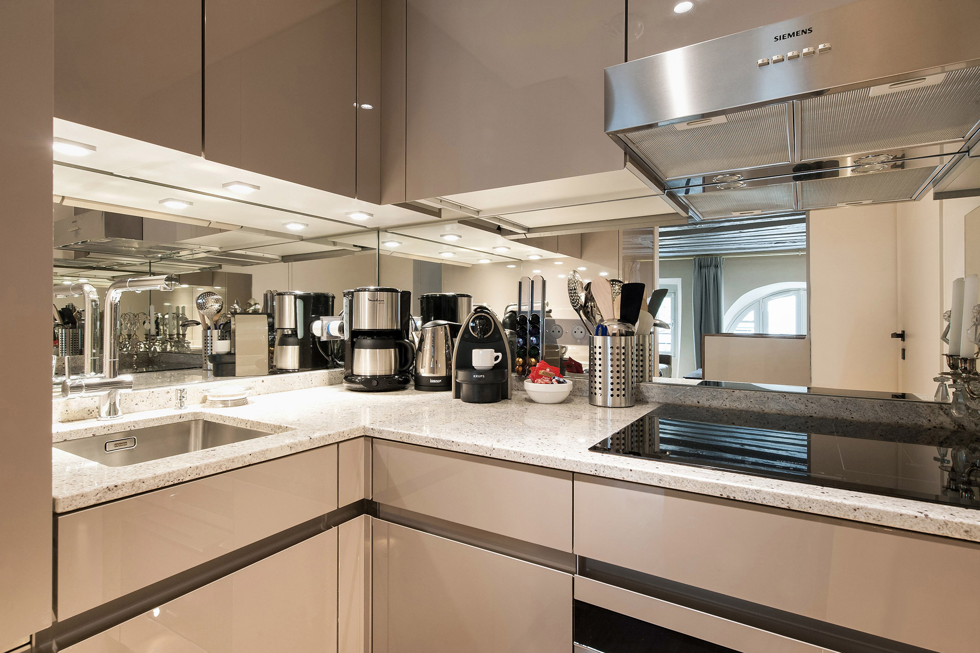 Make wonderful meals in this modern kitchen of the Anjou vacation rental offered by Paris Perfect