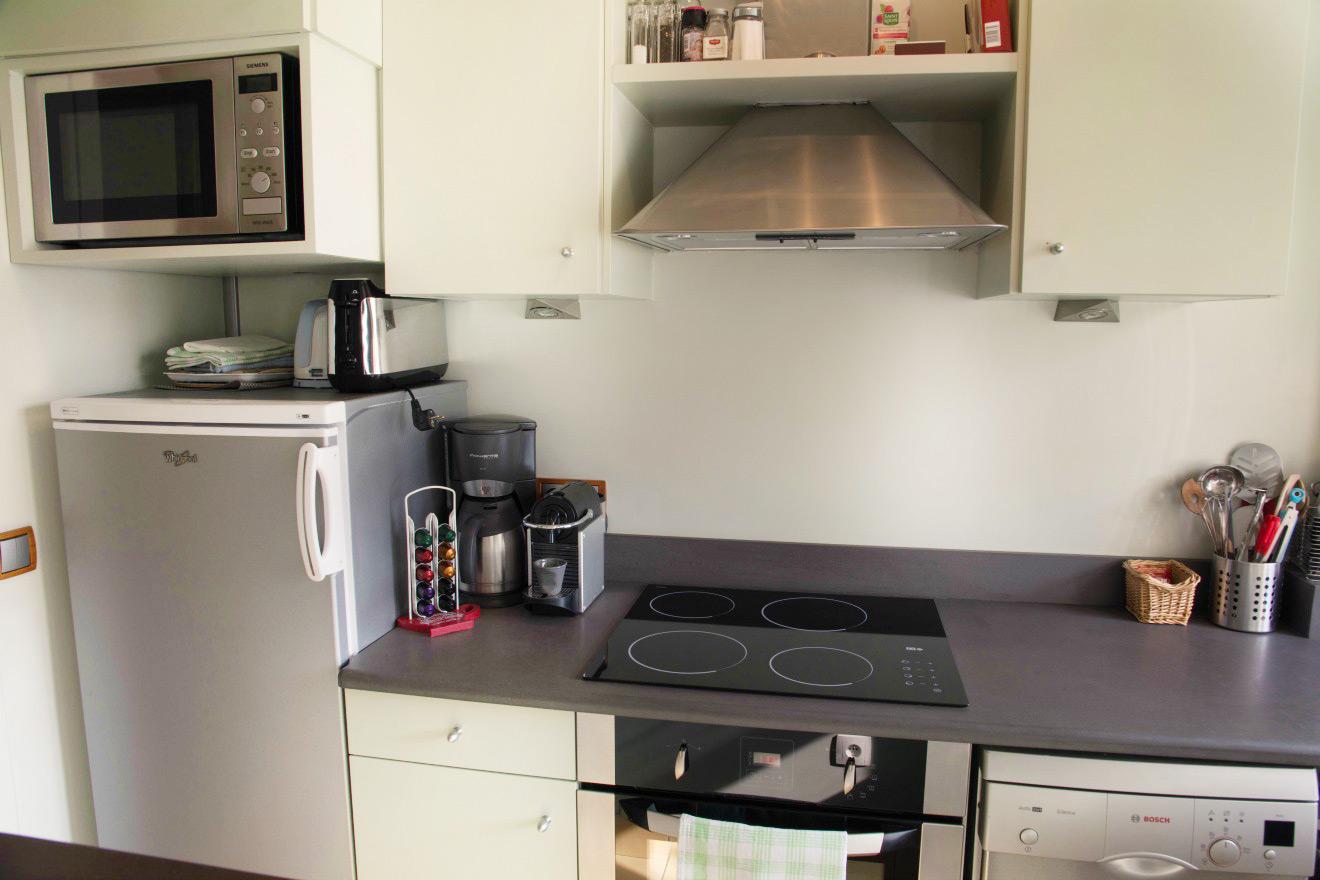 Kitchen in Paris Vacation Rental