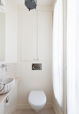 Short Term Apartment in Paris - Powder Room