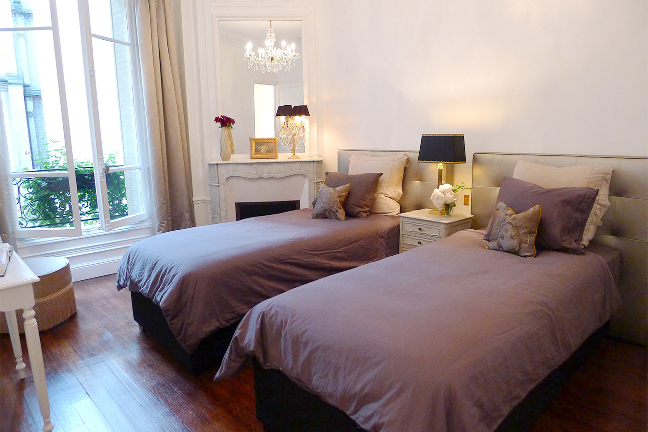 Second Bedroom Luxury Paris Apartment