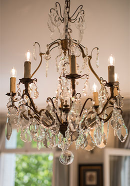Crystal Chandelier Paris Luxury Apartment