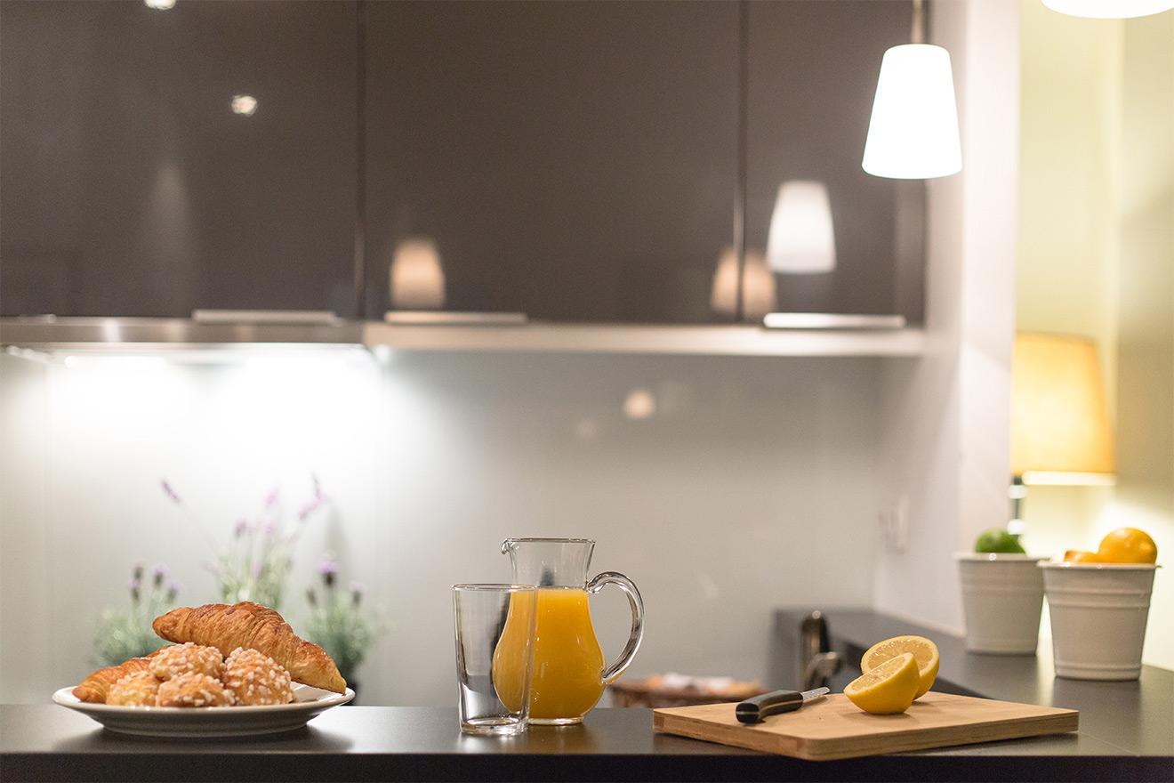 Paris apartment with kitchen
