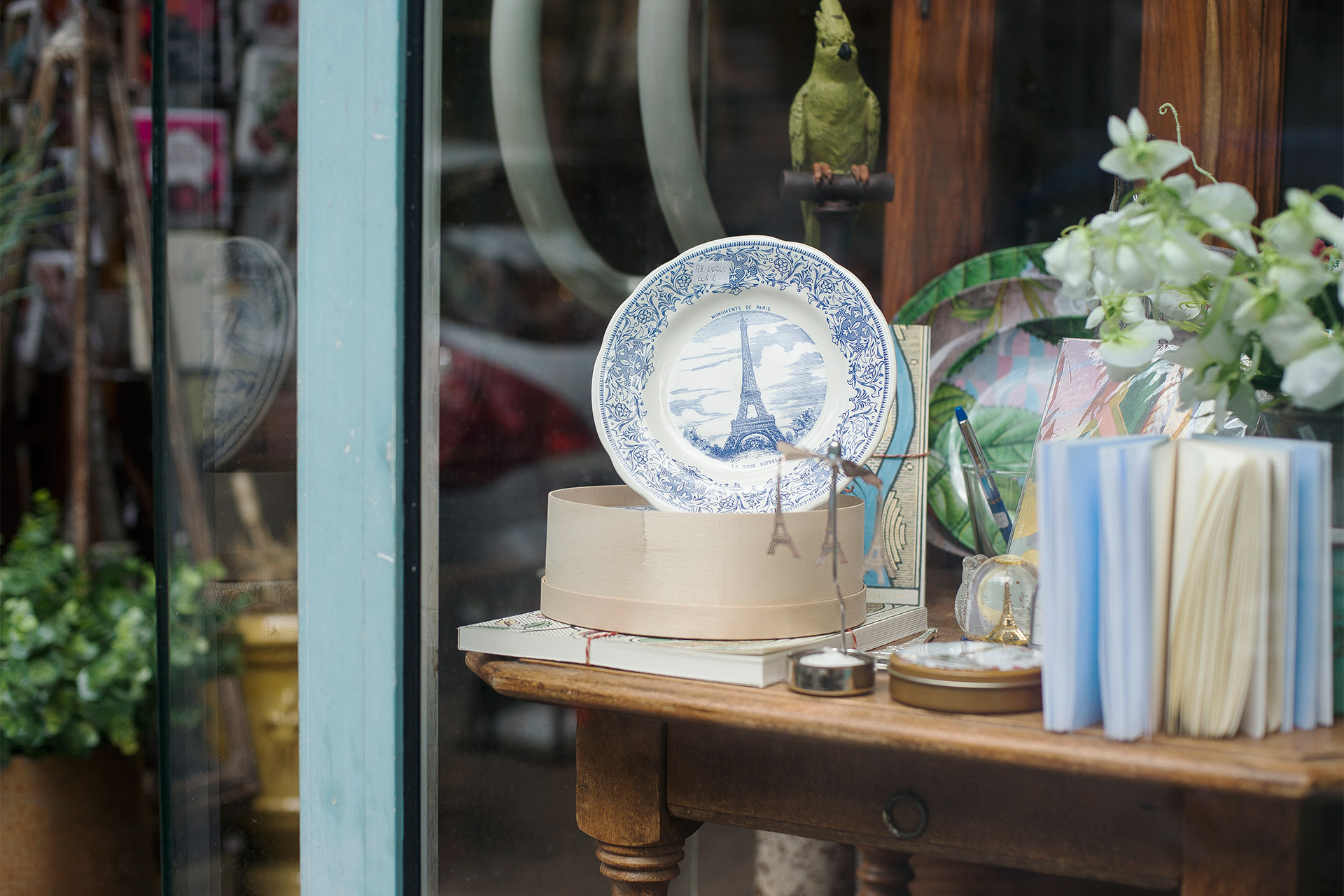 Fantastic antique and home decor shopping in the immediate area around Bailly
