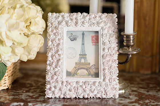 Beautiful picture frame in the Clairette vacation rental offered by Paris Perfect