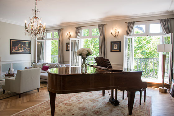 Piano in Luxury Paris Vacation Rental