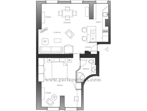 Moulin a Vent Apartment Floorplan