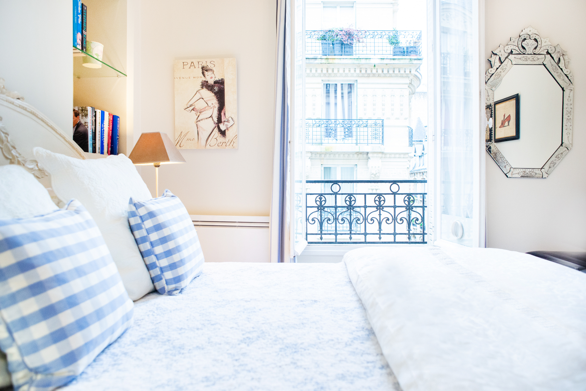 Charming bedroom in the Corent apartment by Paris Perfect