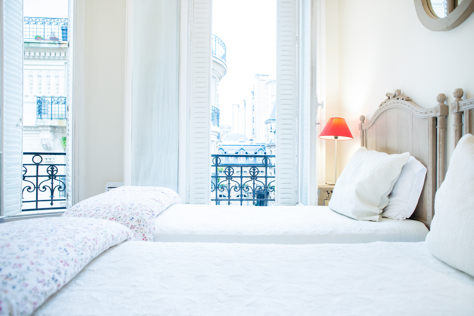 Luxury bedroom in the Corent apartment by Paris Perfect
