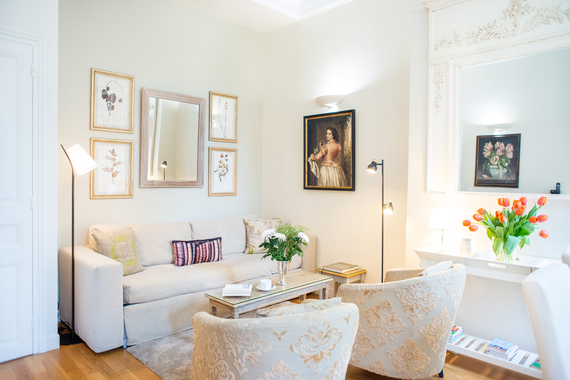 12-foot ceilings in the Corent apartment by Paris Perfect