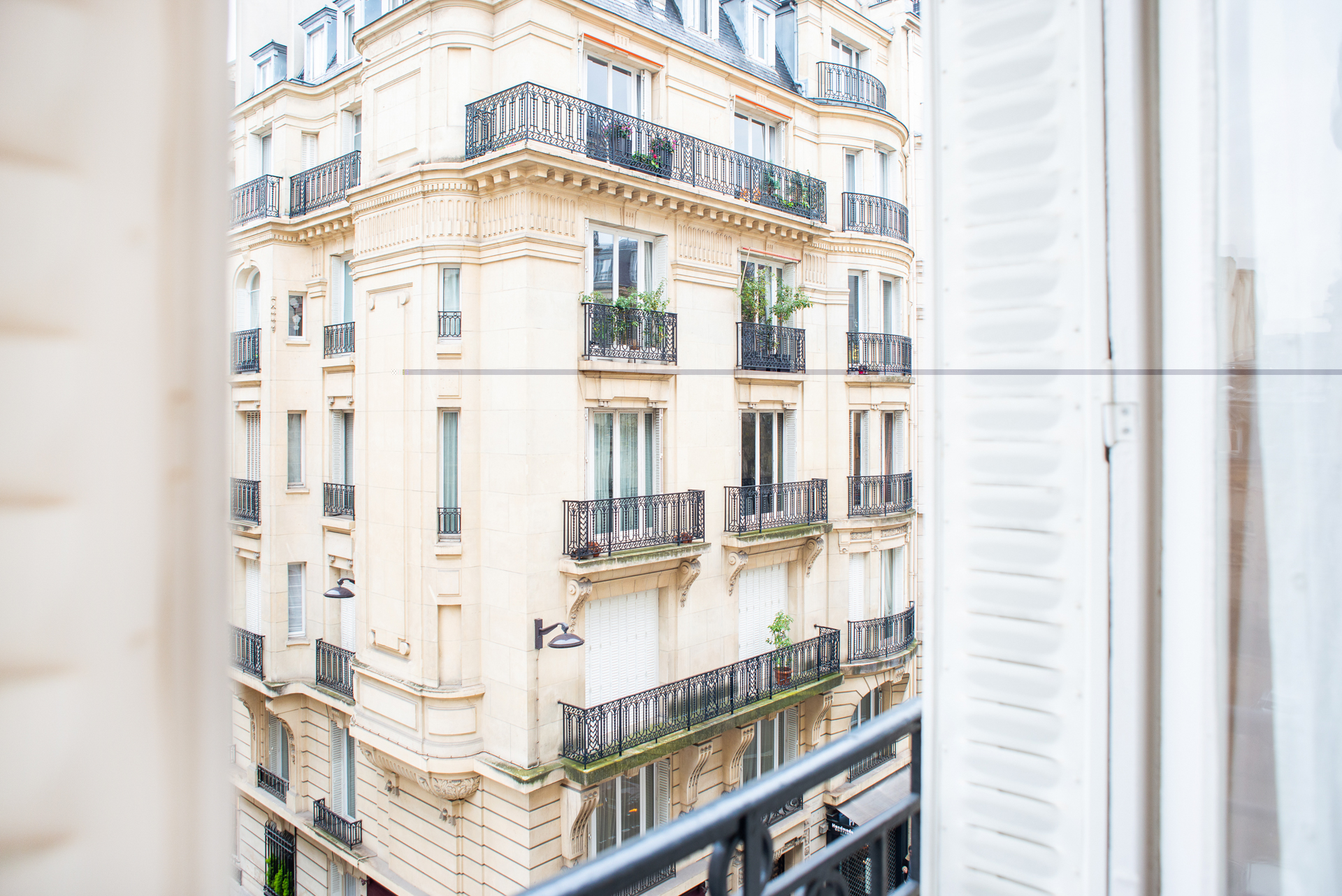 Views of St. Germain from the Corent apartment by Paris Perfect