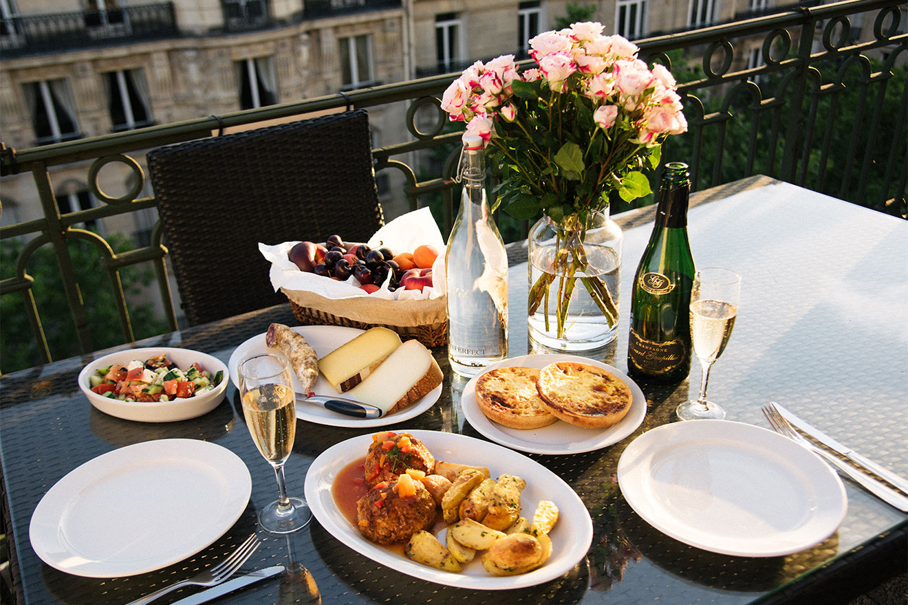 Create a gourmet meal at home with local ingredients in the Margaux vacation rental offered by Paris Perfect
