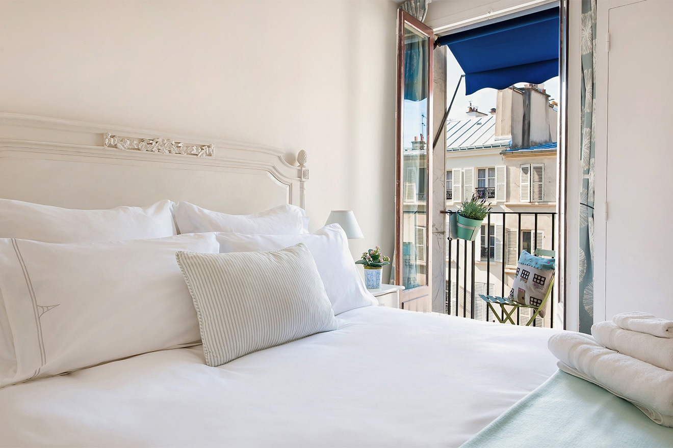Bedroom of Cassis apartment renal in Paris