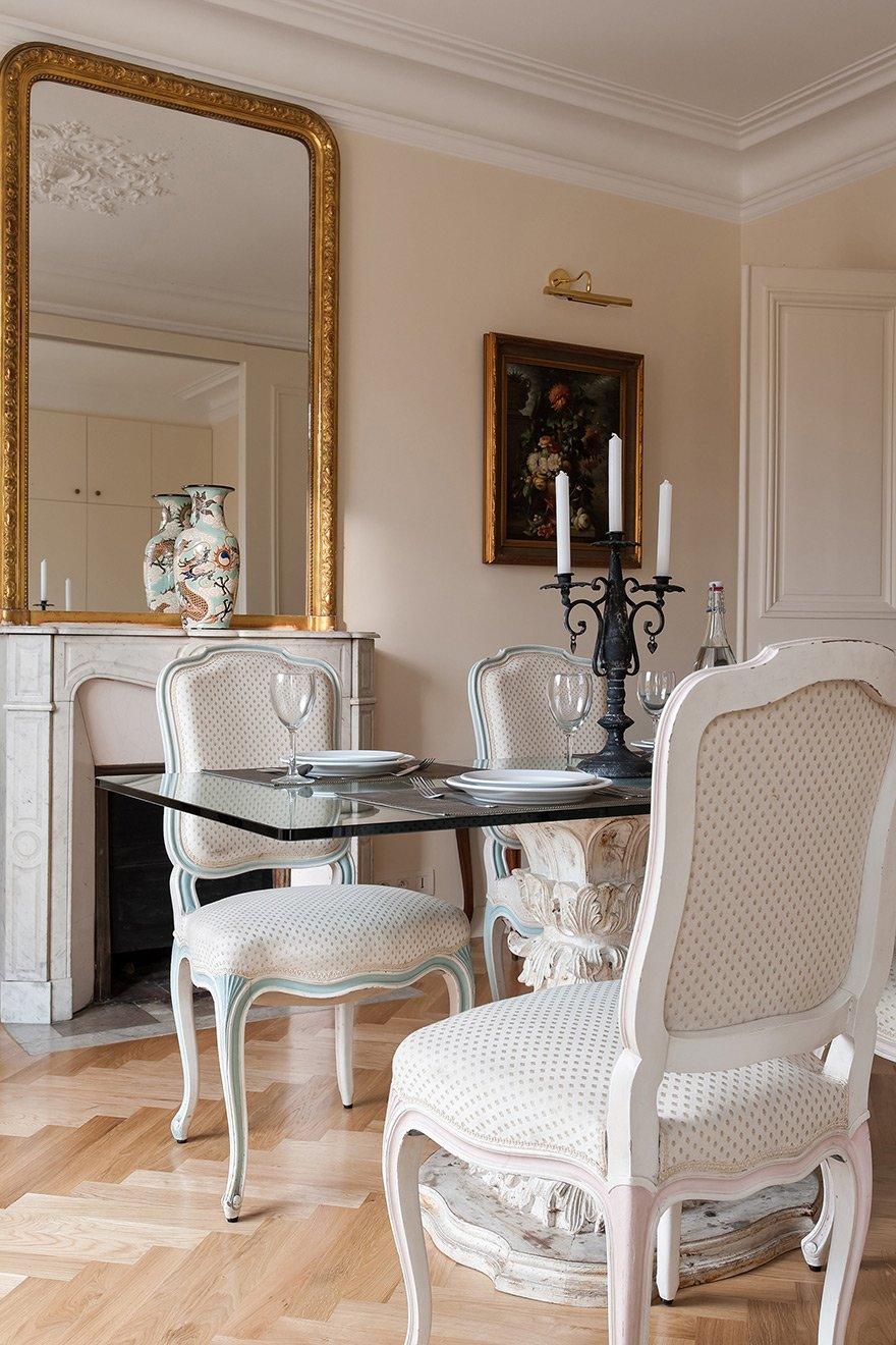 Paris Apartment dining room for four