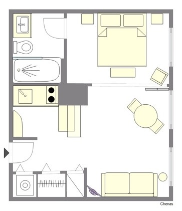 Chenas Apartment Floorplan