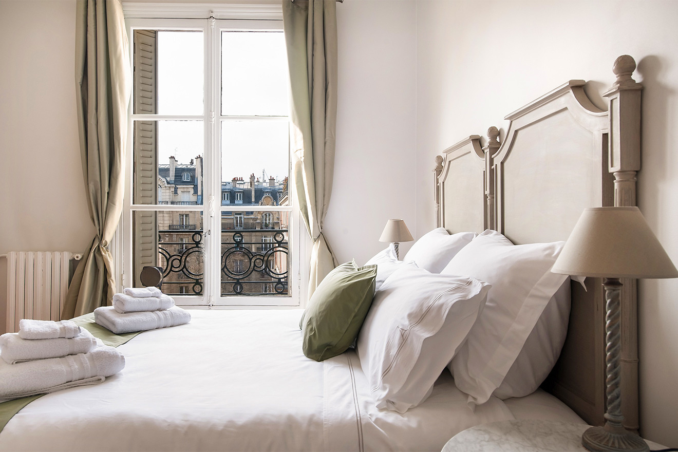 A perfectly Parisian view in the Cognac vacation rental offered by Paris Perfect