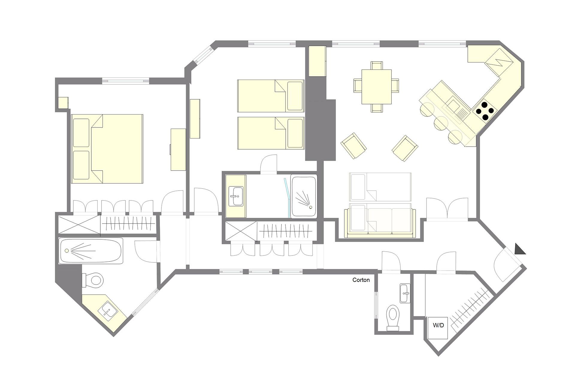2 Bedroom St Germain Apartment Paris