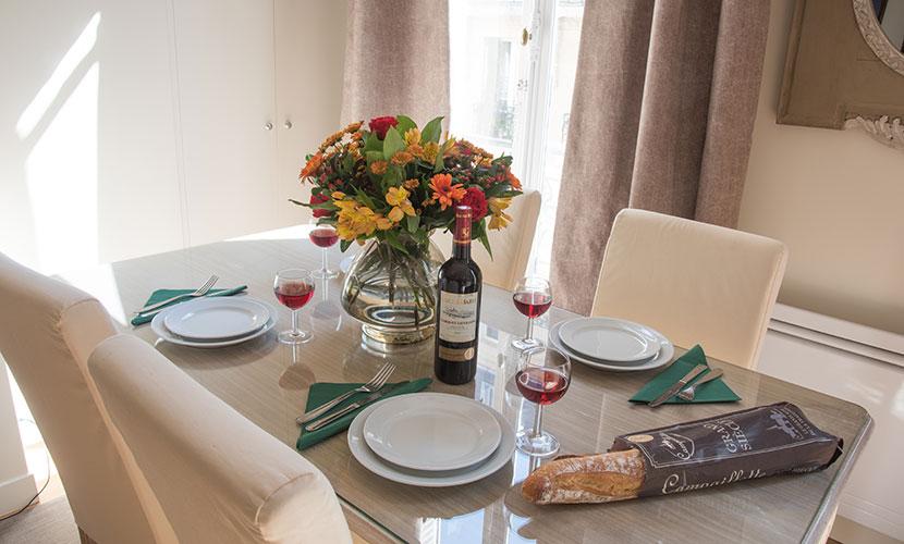 Wenge Wood Dining Table - Corton Apartment Paris