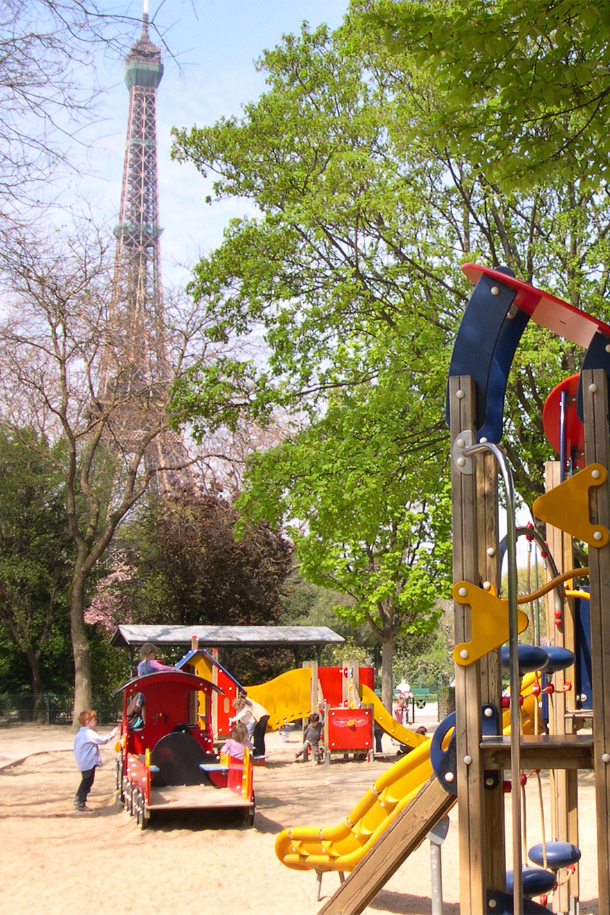 Kids will love the playground at Champ de Mars gardens