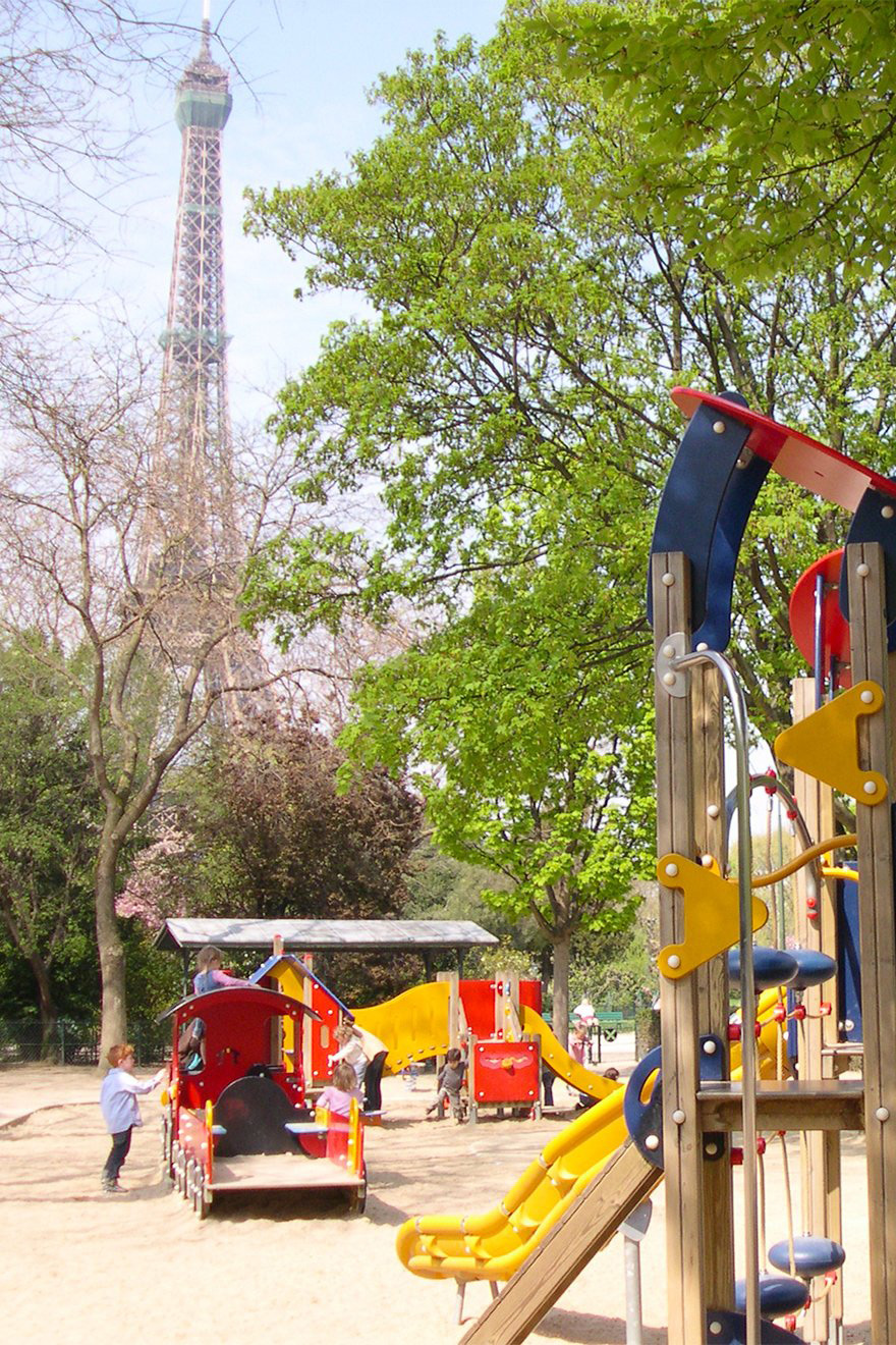 Playground near Eiffel Tower Paris
