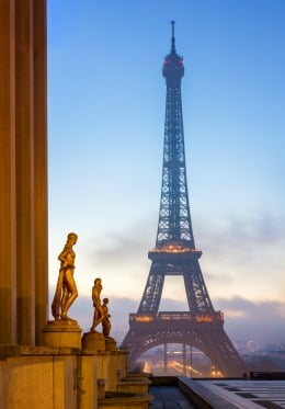 The view of the Eiffel Tower from Trocadéro is breathtaking