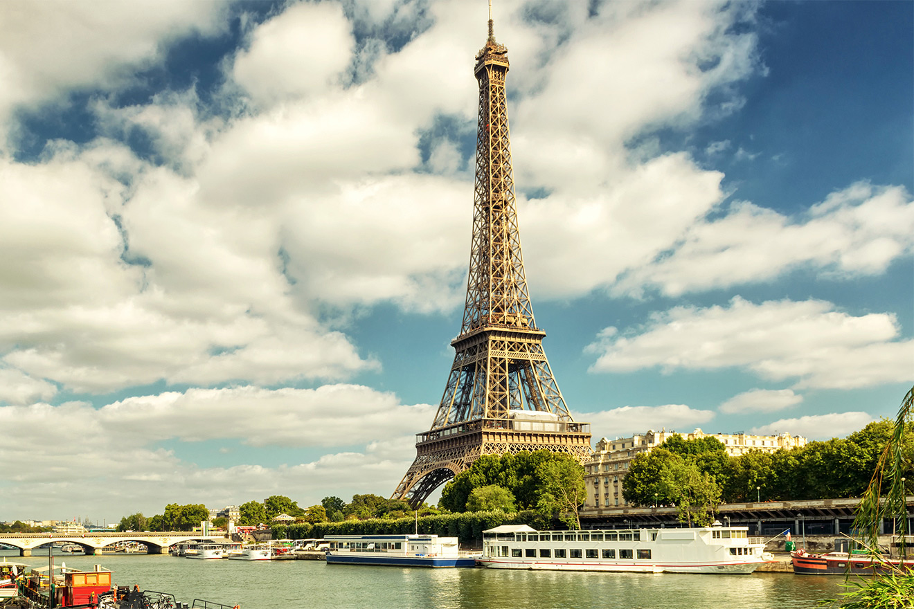 Take a romantic stroll to the Seine and admire the beauty of Paris