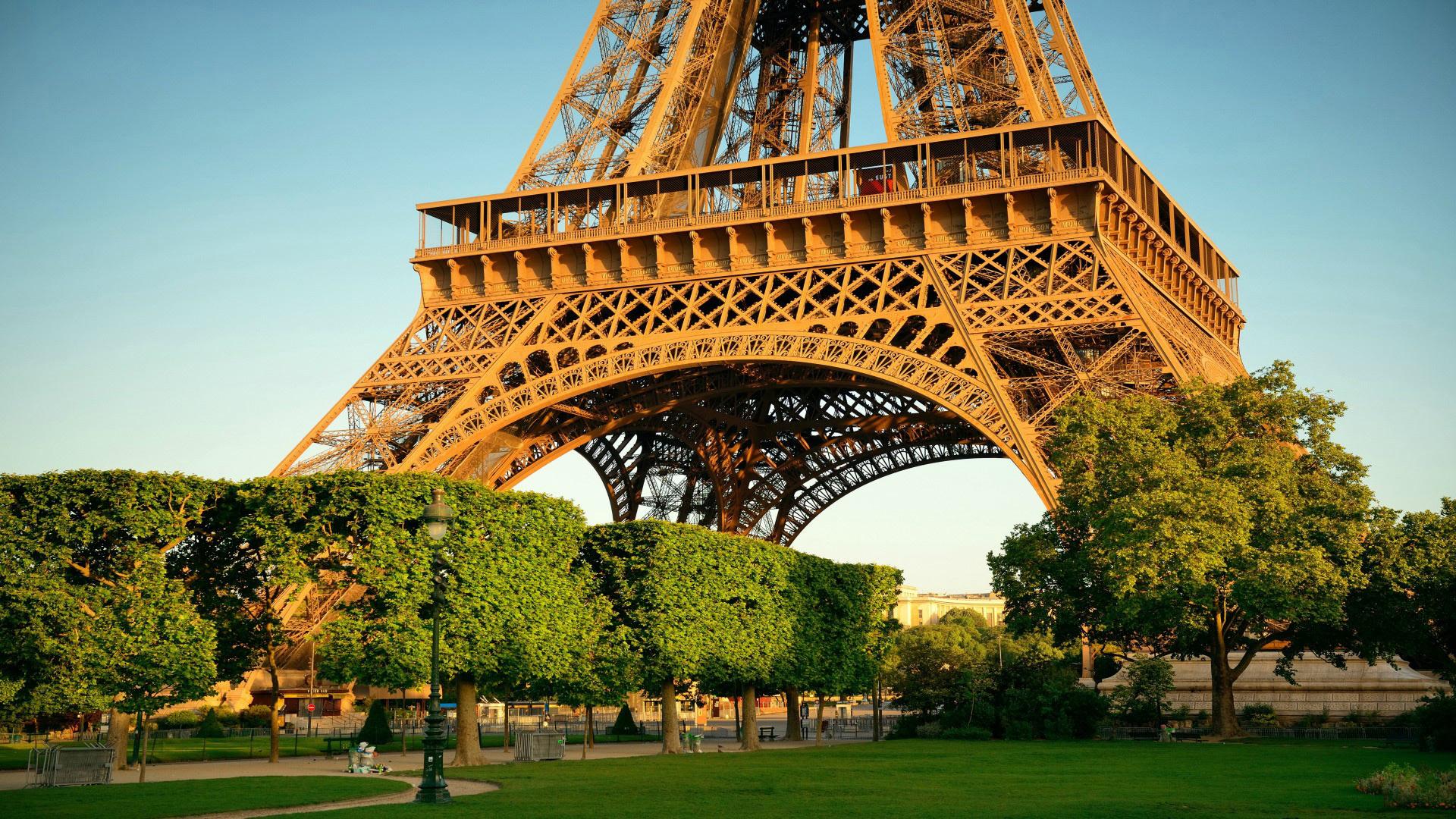 The Eiffel Tower is only a two minute walk away