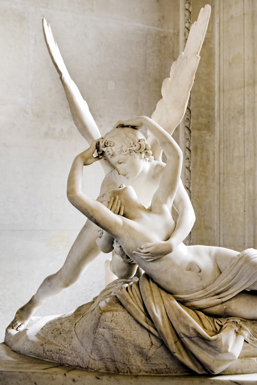 Psyche Revived by Cupid's Kiss at the Louvre