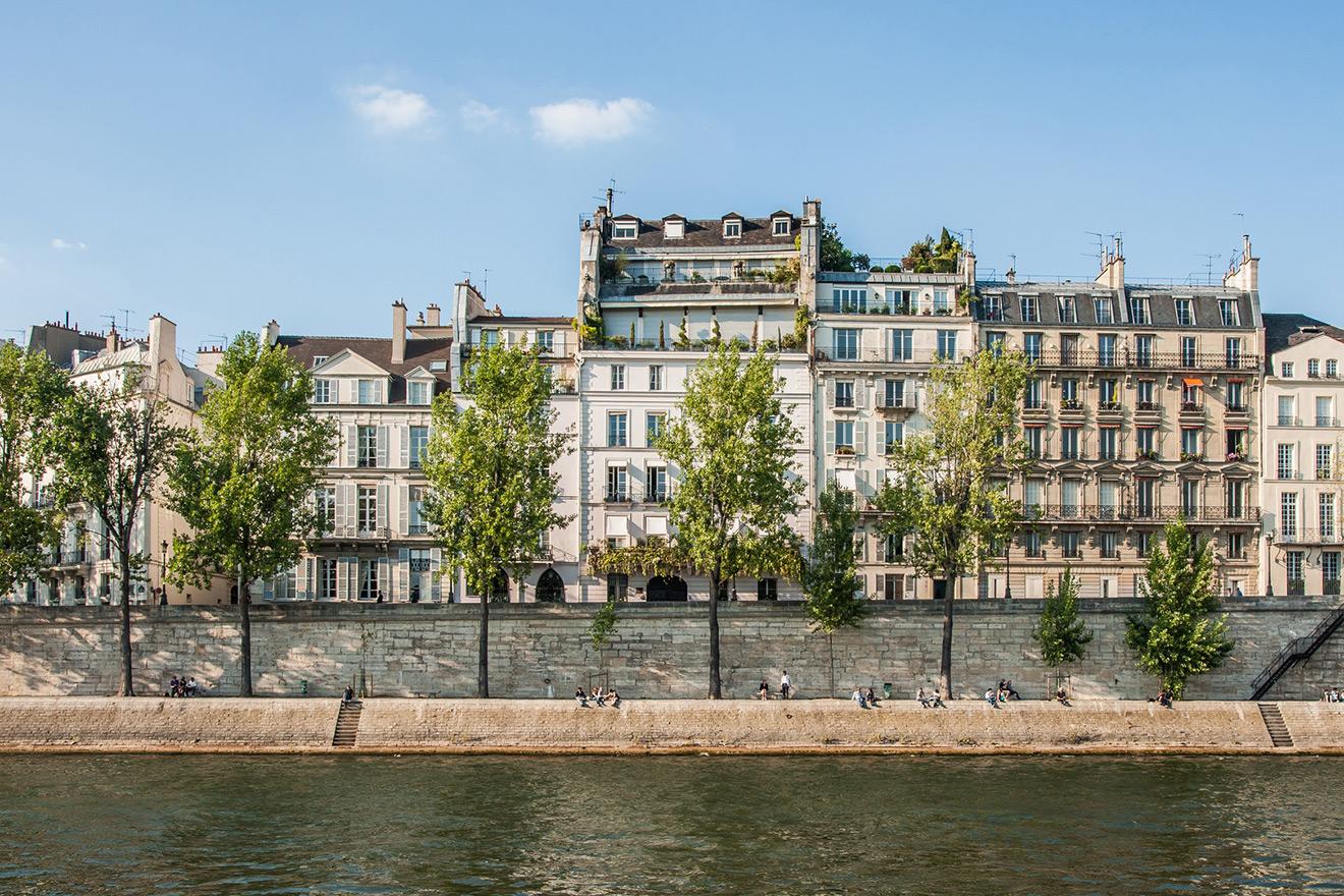 Enjoy a romantic stroll along the Seine River