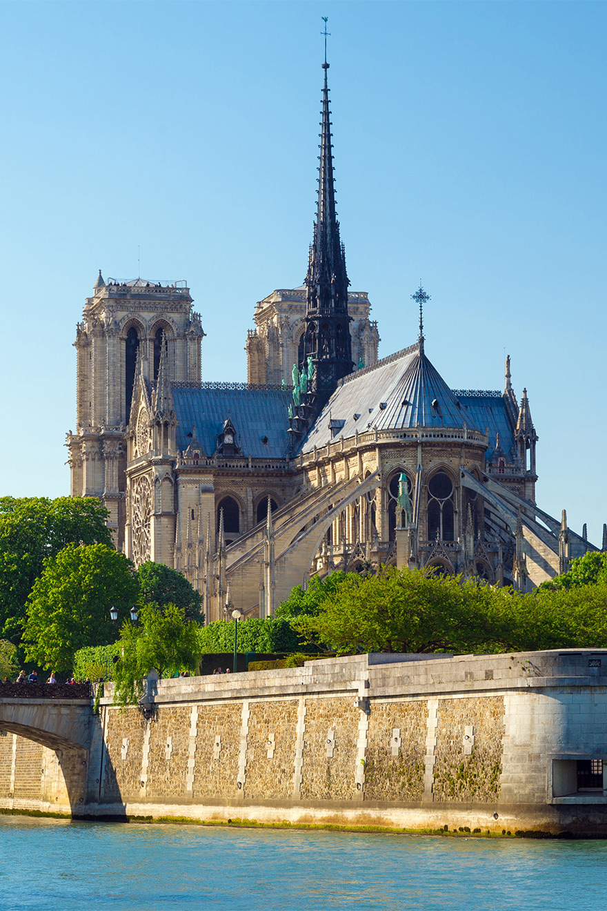 Notre Dame Cathedral on Ile de la Cite in Paris